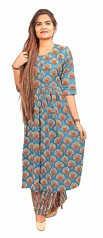 N's Boutique Cotton Blue Kurta with Plazoo for Women  N's Boutique is a women's ethnic and fusion wear value brand. Our range is sharply priced and offers an array of products across solids, prints. We offer the right blend of quality, style and value aimed to delight our customers.  This kurta made from cotton with printed style. This kurta has long straight fit kurta with front-slit pattern all over, has 3/4th sleeves.    Buy Now :- https://amzn.to/2XLECBV  #kurti #kurtiforwomen #womenskurti #casualkurti #formalkurti #ethnicwear #fusionwear