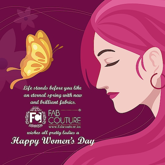 Life stands before you like an eternal spring with new and brilliant fabrics. Fab Couture wishes all pretty ladies a Happy Women's Day. For shopping visit us : www.fabcouture.in  #FabCouture! #DesignerFabric #AffordablePrices #DesignerDresses #Fabric #Fashion #DesignerWear #ModernWomen #DesiLook #Embroidered #WeddingFashion #EthnicAttire #WesternLook #affordablefashion #GreatDesignsStartwithGreatFabrics #LightnBrightColors #StandApartfromtheCrowd #EmbroideredFabrics