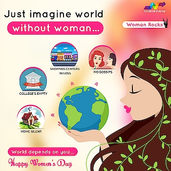 W- Wheel of Family O- Ocean of Knowledge M- Mirror of Children A- Address Of Love N- Navigator Of Life Boat  Just imagine the world without Woman….  The world depends on you.... Happy Women's Day….👸👍🌹🙂  #InternationalWomensDay #8March #happywomensday #HappyWomensDay2019 #WheelofFamily #OceanofKnowledge #MirrorofChildren #AddressOfLove #NavigatorOfLifeBoat #BetterTheWorld #WomensDay #Womens #LoveforWomen #girlpower #strongwomen #WomenEmpowerment #Nashikfame #Nasik #Nashik #India