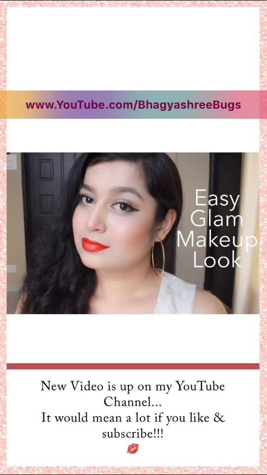 New Video is up on my YouTube channel... Please check it guys!!!  #Bhagyashree #BhagyashreeBugs #BUtterlyObsessed #youtube #youtubechannel #contentcreator #youtuber #youtubeindia #youtubecreators #ropo #roposo #ropo-love #redlips #easyglammakeup #glammakeup #makeup