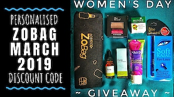 WOMEN'S DAY GIVEAWAY | ZoBag March 2019 | Discount Code | With Choice | Unboxing & Review  March 2019 ZoBag is personalised and contains some great products & brands which I have personally used and loved already! The star product and my favourite in the bag has to be the Brightening Serum but it offers a lot more. So its totally worth ordering, especially with the special discount code via the link mentioned below! . . . Check out the review on YouTube and order now. Don't forget to participate in Giveaway 💕 . . . To order : https://bit.ly/2NQocmX Discount Code : SONAM50 Valid till Sunday only!  . . . . 💕GIVEAWAY RULES💕 ✔ Subscribe on Youtube Channel with Bell icon (if not done already) and Stay active. ✔ Follow @sonameraki on Instagram and on Facebook- https://www.facebook.com/sonamyoutube/ ✔ Ask your friends to Subscribe on YouTube.  If you participated in this giveaway , leave any comment on the YouTube video mentioning your Insta handle. . . 👉NOTE : 1. Ask your friends to reply on your comment on the giveaway video, when they join, if invited by you.  2. All those who unsubscribe after the Giveaway results will be banned from all future giveaways. . . **Giveaway will run till end of March 2019 . . . . #zobag #Zotezo #march #womensday #girlpower #giveaway  #beautysubscription #skincare #makeup #bodycare #glowingskin #naturalskincare #unboxingandreview #youtuber #subscriptionboxindia #subscriptionboxreview #giveaway2019 #honestreviews #sonammahapatra #sonameraki