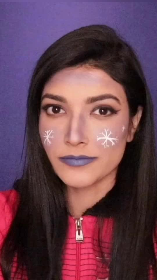 #creativemakeup #makeup #snowflakes