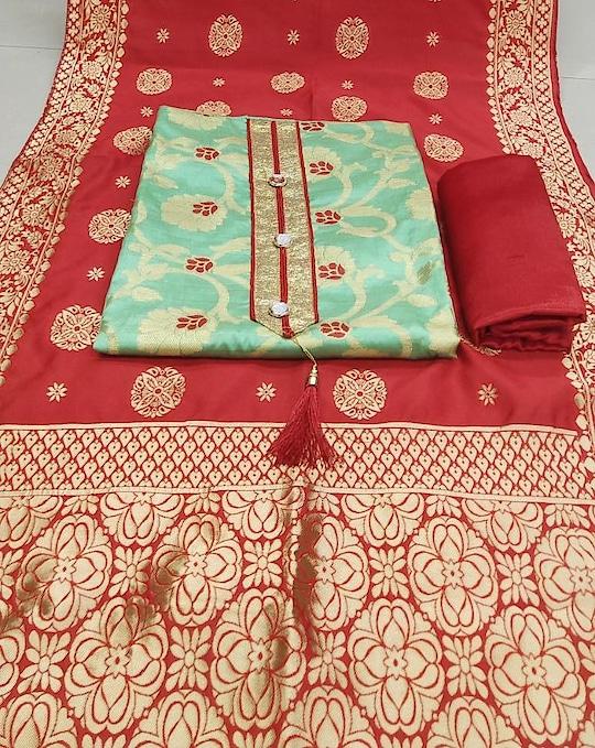 New Designer Banarasi Suits with Trendy Banarasi Dupatta...💕 Price:- 1200/- To Order WhatsApp us (+91) 8097909000 * * * * #salwar #salwarsuits #dress #dresses #longsuits #dressmaterial #banarasisupatta #suitswithdupatta #suitsonline #embroidered #onlinefloralsuit #floral #printedsuits #printed #straightsuits #dupatta #designerdupattas
