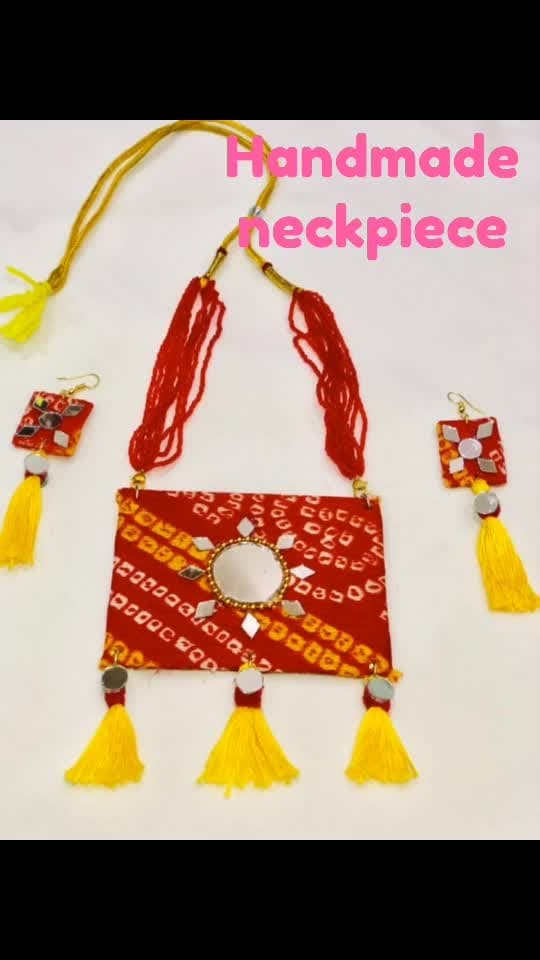 #nayanas creation#handmade neckpiece#bandhani love