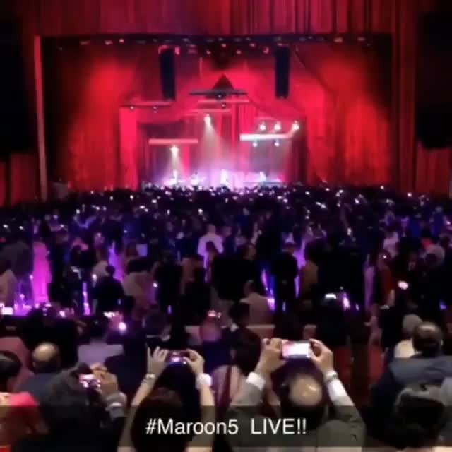 #Maroon5 performing at the Ambani wedding. #AkashAmbani & #ShlokaMehta