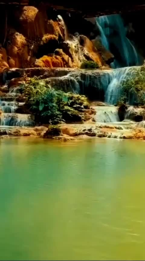 ❤❤ #laos #asian #waterfalls #wow #roposo-wow #scenery
