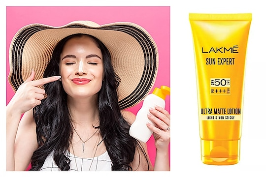 Summer essentials Summer means harsher and stronger sunrays, which means more skin tanning and damage. This is why sunscreen is an extremely vital product that you just cannot ignore. The Lakmé Sun Expert Ultra Matte SPF 50 PA+++ Lotion blocks up to 97% harmful sunrays for maximum protection #summer-fashion #summerbeautyhack #summerbeautyhack #dailypost #lookgoodfeelgoodchannel #fashionquotientchannel #followmeonroposo