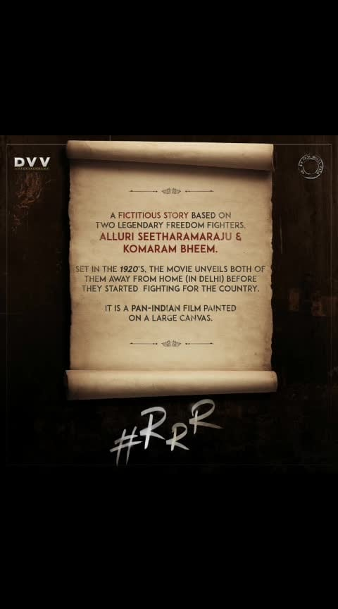 2020 July 30th -#RRR worldwide Release in 10 indian languages