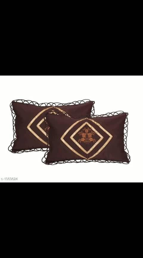 Alaska Elegant Cotton Pillow Covers Combo Vol 2  Fabric: Cotton Size: (L X W) - 17 in X 27 in Description: It Has 2 Pieces Of Pillow Covers Work: Embroidery Dispatch: 2 - 3 Days