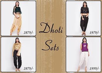 Dhoti sets!  https://bit.ly/2FdxZkv  #9rasa #colors #studiorasa #ethnicwear #ethniclook #fusionfashion #online #fashion #like #comment #share #followus #like4like #likeforcomment #like4comment #newarrivals #ss19collection #ss19 #outfit #lehengaset #lehenga #dhotiset #dhoti #set
