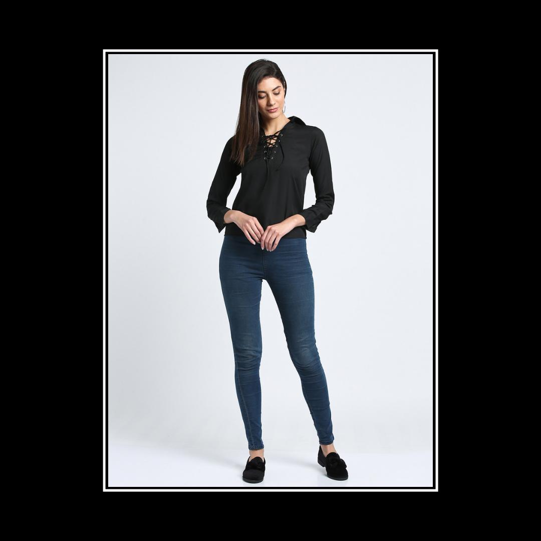 Let your confidence shine, Pretty girls!!!❣️🔥 . . . . #trendarrest #trendyoutfits #trendfollowers #trending #fashion #westernwear #womenswear #black #colour #laceup #top #formals #confidence #girls #fashionista #fashionworld #fashionnova #clothingbrand #onlineshopping #instalikes #instamodels #instafollows #followforfollow #likeforlikes #saturdaynight #weekendvibes #postoftheday