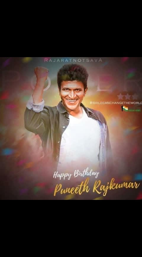 Happy birthday #punithrajkumar #puneethrajkumar #powerstarpuneethrajkumar