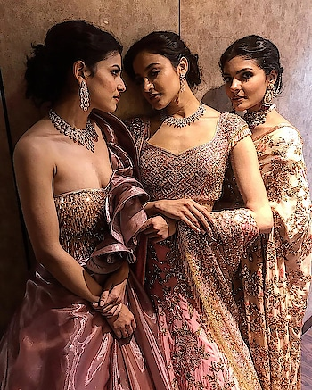 Rose gold couture 💕 at #svcouture #lmifw #suneetvarma #thefdci