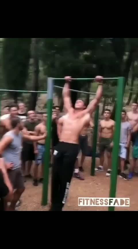 #Bar-workout #no-pain-no-gain #awesome-man
