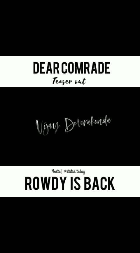 #rowdy #vijaydevarakonda #vijaydevarakondafc #rowdyrockstar #roposoness