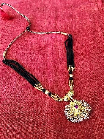Maharashtrian Traditional Thushi Mangalsutra Gold Plated pendant Black Gold Beads 6 Line Layer adjustable Necklace Website Link- https://bit.ly/2Fjq8BX . . . . #mangalsutra #necklace #pearls #thushimangalsutra #blackbeads #maharashtrianstylish #pendant #mangalsutradesign #goldmangalsutra #jewellery #womensjewellery #goldjewellery #diamonds #bridal #bridaljewelry #elegant #weddingjewelry #weddings #bridalwear #bridaljewelry #bridalgoals #mumbai #india #tradition #indianwear #traditionwear #ethnic #indianwedding #indianjewelry #indianwedding #ethnicjewellery