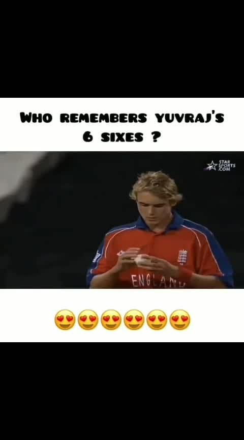 Yuvi 6 sixes in row to england fast pacer Struat Broad....what a magic moment for indian fans.....!!!!!  #yuvraj_singh #msdhoni7 #sixsixesinover #amazingmoments #bestinning #roposoness #ropososports #sportstv #sportstvchannel #loveroposo