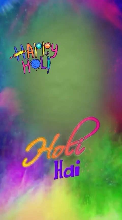 wish u all a happy holi in advance #happp_holi #roposo #trending #bestholivideostatus #holistatus2019