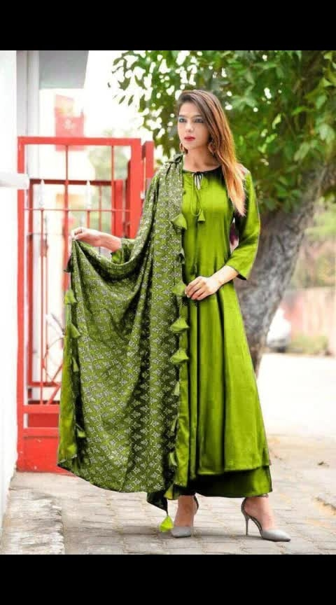 *#Restock* Luxuries New Style Festive Wear 2019 💃🏻Best  Ever Qualitative  Product going to launch frock style with  wide plazo💃💃💃💃💃Specially for you..!!👗   *Colors 👑 😲 wow*  Fabric Details:👘  *Top❤ full stich📣* Pure organic heavy rayon TOP- Stich  Size 42-44 *Plazo❤ full stich📣*  Duppata *Gold print* With tassels *Same ❤price dupptta📣*  *Price single-905.*+Shipping Cost Extra   🤳Book Now  Ready  to dispatch  Quality always superb  🙏🙏🙏🙏🙏👍👍👍👍👍👍  😍😍😍😍😍😍