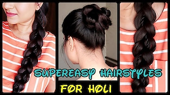 #braid #bun #topknot #youtube #hairstyle #hairstylediaries #video #tutorial #hairstyles #indianyoutuber Supereasy Hairstyles+Haircare for Holi //Quick Easy hairstyles for long hair