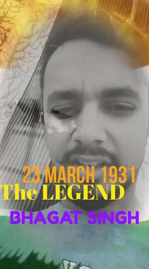 The LEGEND BHAGAT SINGH  #roposostar #bhagatsingh #freedom #desh #deshbhakti #punjabiway #soulfulquotes #roposo #23march #surma #punjabi #india-punjab #haryana