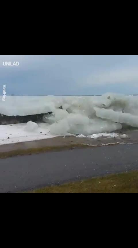 Ice Waves Unbelievable..