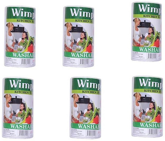 Wimpex Single Non Woven White Kitchen Towel Roll - 80 Pulls (200 GMS) Pack of 6  (6 Ply, 80 Sheets)  https://bit.ly/2HJ9kWI