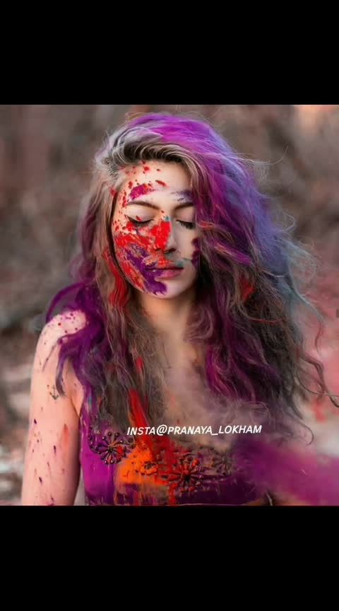 happy holi🎉🎊 #ropo-holi #happyholi #colors #colorfulholi #holi #holi2019 #hair