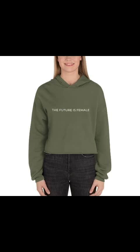 The Future is Female Women's crop hoodie and crop sweatshirt - Link is in the bio - Visit us on Instagram @nikhilbharoliya for more art and fashion Inspiration . #fashion  #styles  #art  #tshirt  #unisex  #shirts  #womensfashion  #womensfashion  #menswear  #thefutureisfemale  #feminist  #letter  #clothes  #ootd  #ootdfashion  #syleoftheday  #minimal  #minimalism  #minimalist  #artist  #artistsoninstagram  #surat  #surat_igers #nb  #nikhil  #nikhilbharoliya  #igstyle  #highfashion  #feminism