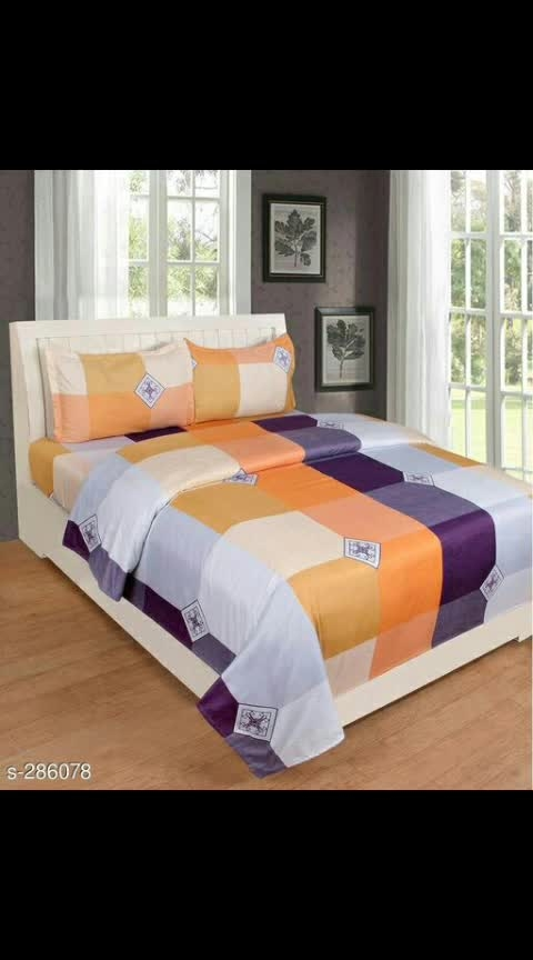 Comfy Glace Cotton Double Bedsheet With Pillow Covers  Fabric: Bedsheet – Glace Cotton , Pillow Cover – Glace Cotton