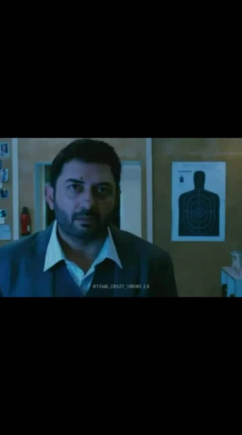 #aravindswamy #thanioruvan #villan #massscene