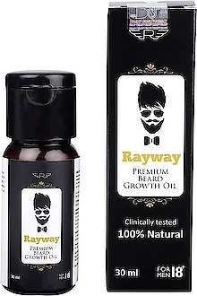 Rayway Beard Oil Hair Oil (30 Ml) ₹449 Features Type : Beard Oil Ideal For : Men Quantity : 30 Ml Pack Of : 1 Set Contents : 1 Beard Oil