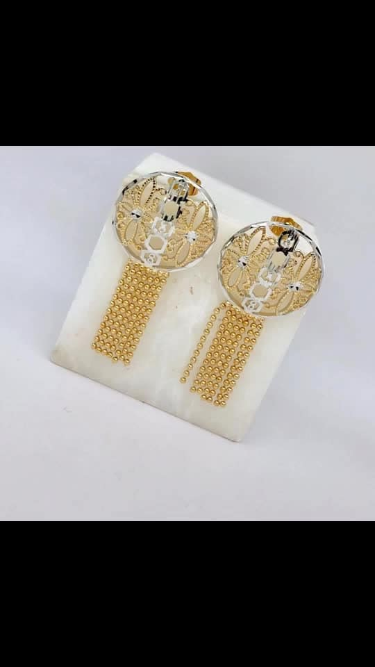 Dhar 18 k gold plated long earings 380/-each  shipping extra
