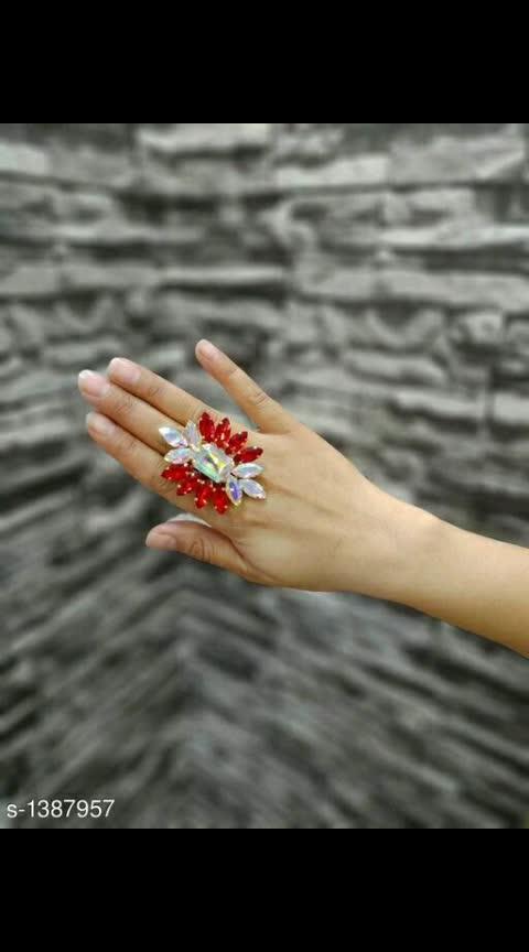 Charming Alloy Stone Work Women's Ring Material: Alloy Work: Stone Work #alloyring #stonework #fingerring #shopwithus #buyitnow #thebazaar #cashondelivery #followusonroposo