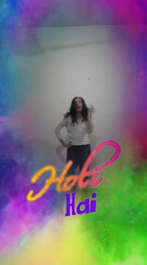 Holi hai #holihai #holi #holidance #happyholi #roposoholi #holifilter #lovecolours #beatschannel #roposostarchannel #roposolove #roposodance @roposocontests @roposotalks @anshikagrover @fehmidababa
