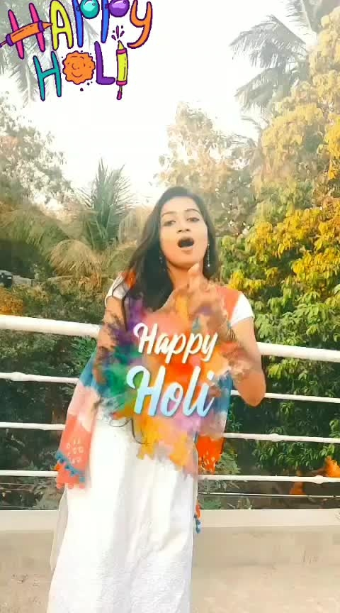 HAPPY HOLI..,hope ur all life's framed with  all colors of love and happiness😍😍😍😍 #balampichkari  #raisingstar