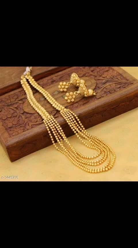 Exquisite Alloy Gold Plated Jewellery Sets  Vol 1  Material: Alloy Size: Free Size Description: It Has 1 Piece Of Necklace & 1 Pair Of Earrings Work: Beads & Embellished Dispatch: 2 – 3 Days