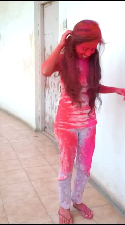 #holi2019 #happyholidays #loveroposo #roposoloveshyd #risingstar #risingstaronroposo #risingstarschannel #roposochannel #roposochallenge #mood #roposo-mood #love #holi #whatsappstatusvideo
