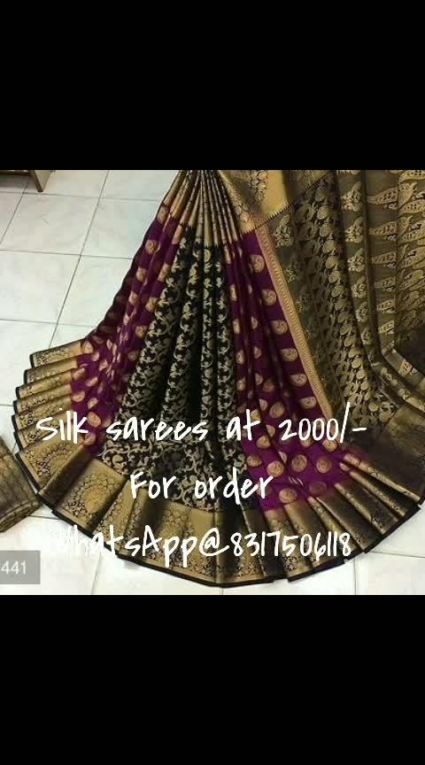 #silksareeindia #saree #silksaree #designer-saree #online_fashion_store