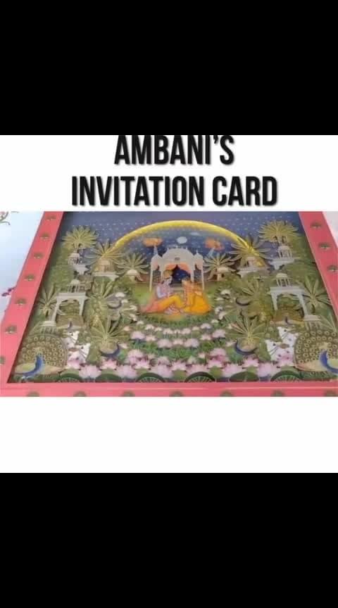 #akashambani #shlokamehta wedding invitation card