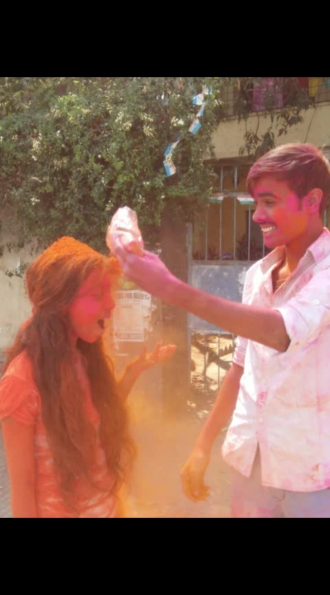 #holi2019 #brothersisterlove #brotherlove  #happy-holi-roposo #happy-holi #loveroposo #risingstar #risingstaronroposo #rising_star_on_roposo #risingstarschannel #roposochannel #mood #roposo-mood