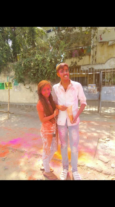 #holi2019 #brother #brotherlove #brothersisterlove  #happyholi #happy-holi-roposo #risingstar #risingstaronroposo #risingstarschannel #roposotimes #mood #roposo-styles
