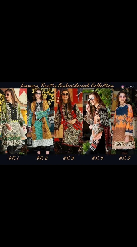 ( *#Embroidered #Kurtis*)  *⭕#LUXURY #LAWN EMBROIDERED KURTIS COLLECTION BY CS⭕*       *👗TOP :  Luxury Lawn  Digital Print with heavy embroidery Bunch*  *UNSTICH HEAVY EMBROIDERY KURTI*  *5 Pcs set*   @999/- each     DM or whatsapp on 7013435938   ONCE BOOKING IS DONE WILL NOT GET CANCELLED. . . . .