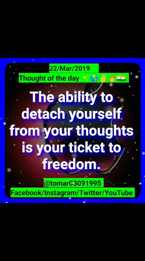 Thought of the day ✨🌎✌🔥🇮🇳. [22/Mar/2019 ]  Blogger post ⤵️⤵️⤵️  https://tomar03091995.blogspot.com/2019/03/thought-of-day-22mar2019.html                  My YouTube channel ⤵️⤵️⤵️              Videos                 https://youtu.be/BJZ6N95JzmA  Regards :-  Rahul Tomar Entrepreneur Call/ WhatsApp +91-7895759093 Email id: rahultomar3995@gmail.com _________________________________________  Never give up and be positive  🌎🌎🌎 = 100% success 🎯[ Entrepreneur ]🔥   #tomar03091995  #success  #leadership  #motivation  #mlm  #inspiration  #never  #give  #up  #thought_of_the_day   #always_happy   #business  #consultation  #global  #network  #marketingdigital