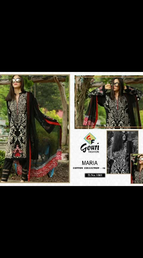 💕 *MARIA* 💕     *Cotton Collection - 19*         👇🏻Fabric details 👇🏻  👗 Top : CAMBRIC COTTON WITH SELF EMBROIDERY  👖Bottom   : SEMI LAWN   💐DUPATTA- NAZNEEN CHIFFON WITH HEAVY PALLU EMBROIDERY    @1349/- each    DM or whatsapp on 7013435938   ONCE BOOKING IS DONE WILL NOT GET CANCELLED. . . . . .