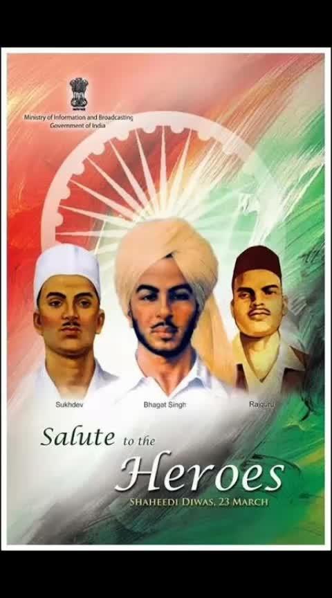 23 March 1931 Bhagat Singh, Rajguru , Sukhdev Martyrs day #bhagatsingh #bhagatsingh #punjabiway #punjabiwaychannel #dailypost #followusonroposo