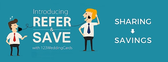 It's time to refer and save! Tell your friends &  family to shop for their wedding invitation at 123WeddingCards with and get a secret coupon code on your email id. Refer Now: https://www.123weddingcards.com/refer-and-earn  #Referandsave #Referandearn #Springoffers #Weddinginvitationoffers #Recomendations #Offers #Referandearntricks