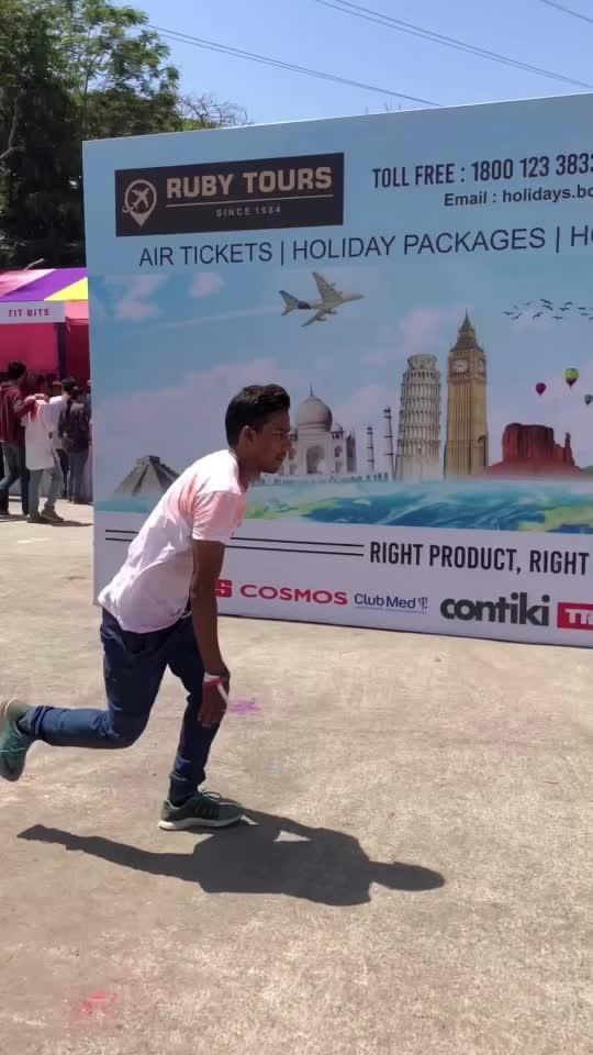 Holi Wala video #holi #fun #flip #jump #twist #gymnastic #tumbling #parkour #freerunning #roposo  @roposocontests