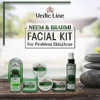*******(Neem Brahmi Facial Kit)*******  This Kit includes the goodness of all these #NaturalHerbs to give you fresh and beautiful skin. Neem is a blood purifier, maintains healthy blood circulation. Brahmi is rich in Vitamin C, treats skin problems, energizes cells, heals skin & reduces scarring. Embellica is an antioxidant, rich in vitamin C, with antibacterial & astringent qualities. Aloe Vera provides a barrier to shield from toxins. Basil opens up clogged pores.  Benefits : 💟 Cleanses skin deeply. 💟 Prevents acne and pimples. 💟 Reduces scars and protects the skin. 💟 Deep cleans clogged pores.  Buy Now: 👇👇 http://www.vedicline.com/product/1752/neem-brahmi-facials-(for-problem-skin--acne) #SkinCareRegime #BeautyProducts #NaturalIngredients #AyurvedicProducts #Vedicline #SkinCare #NeemBrahmiFacial #Facial #NaturalFacial #Acne #PimplesFree #AyurvedicTreatment #FacialTreatment #NaturalCare #MustHaves #SkinMaster #BeautyAddict #MadeinIndia