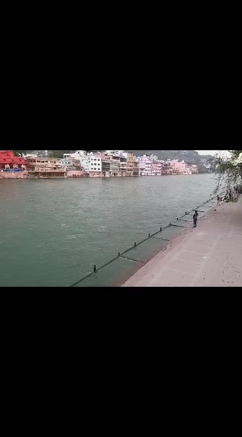#lordshiva #haridwar #gangariver #water #flood #temple